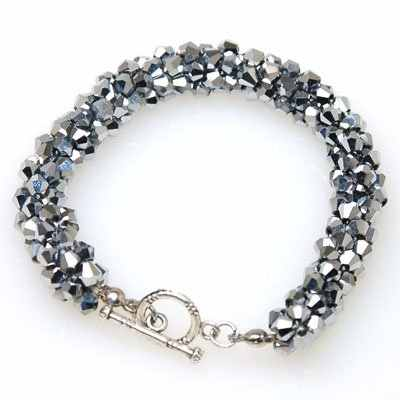 Miasol Braided Friendship Handmade Bicone Crystal Beads Magnetic Bracelets For Women Bracelet Jewelry Gift