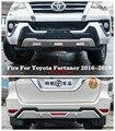 ABS + edelstahl Auto Vorne + Hinten Stoßstange Diffusor Protector Schutz Skid Platte Firs Für Toyota Fortuner 2016  2019 DURCH EMS Stoßstangen    -