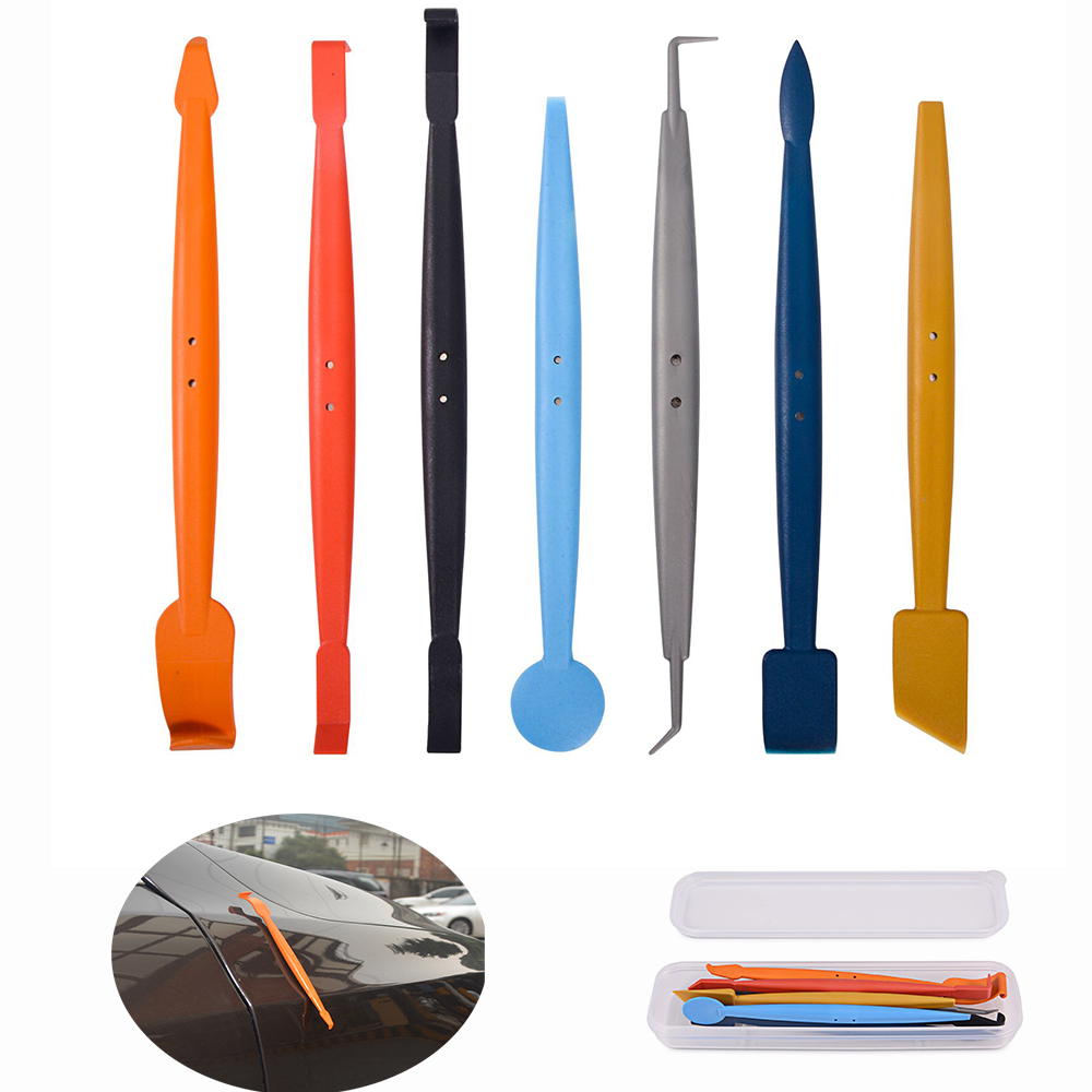 FOSHIO 7pcs/Set Vinyl Squeegee with Magnet Car Wrap Magnetic Foil Film Hand Tools Window Tint Auto Wrapping Styling Accessories