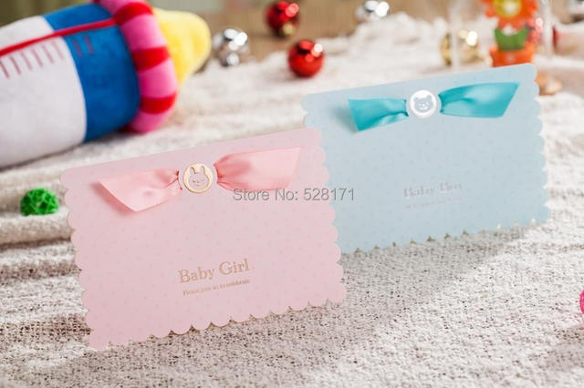 Free Shipping 12pcs/lot Newest Design 3D Cartoon Baby Shower - baby girl invitation