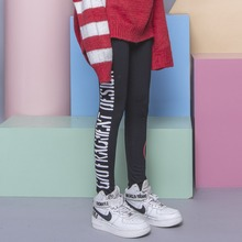 Fashion street HARAJUKU brief of sidepiece letter print elastic thin waist female 2016 legging