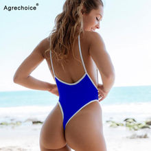0434d75c0d25d 2018 New Sexy One Piece Swimsuit Women Swimwear Thong Monokini Swimsuit  High Cut Backless Bathing Suits Swimming Suit For Women