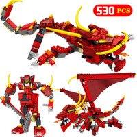 Technic LegoINGly Ninjagoed Movie Dragon Building Blocks Bricks Action figures LegoINGlys NinjagoINGLYS Toys For Children