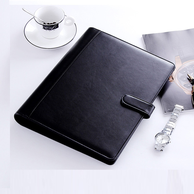 PU Leather A4 Document Bag Business Briefcase Storage File Folder For  Papers For Documents Office School