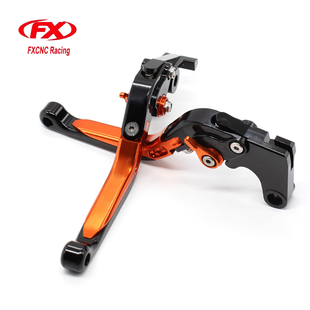CNC Adjustable Motorcycle Folding Extendable Brake Clutch Levers For KTM 390 Duke 200 125 390 RC390 RC200 RC125 2014 - 2017 for ktm rc390 rc200 rc125 125 duke high quality motorcycle cnc foldable extending brake clutch levers folding extendable lever