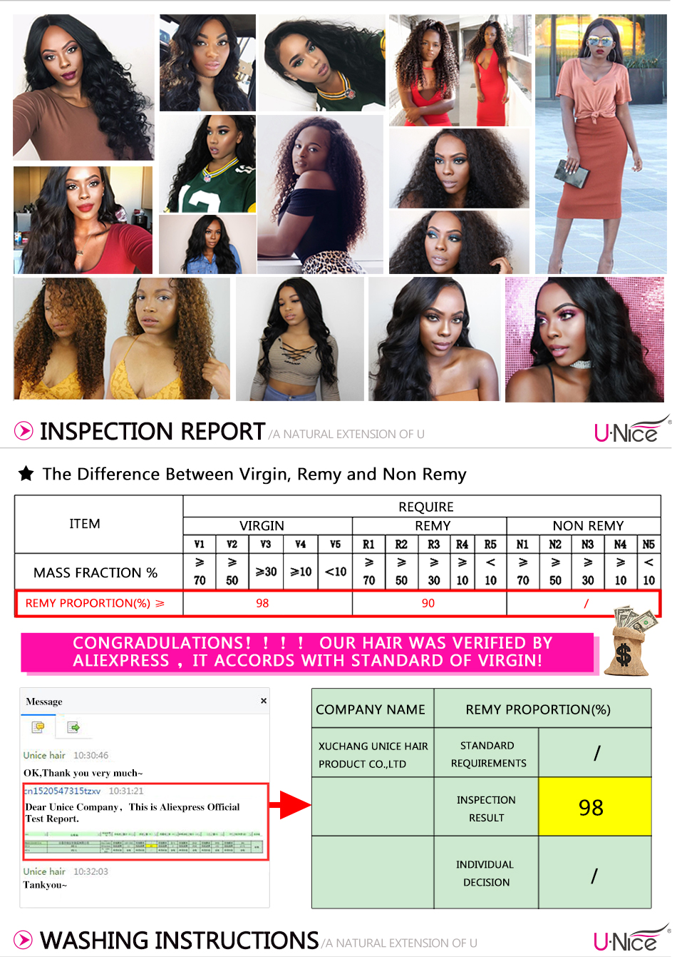 """Unice Hair Wig 13*4/6 Brazilian Straight Lace Front Human Hair Wigs With Baby Hair Remy Human Hair Wigs For Black Women 10-26"""""""