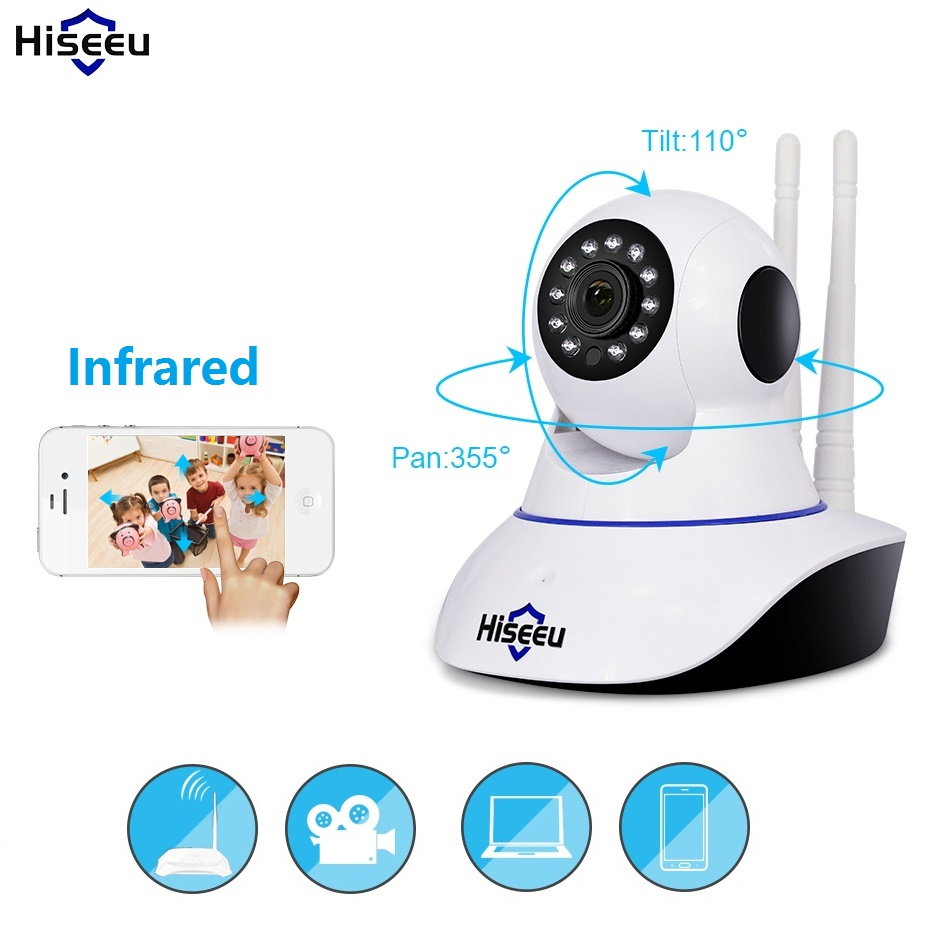 Infrarot Wifi 720 P 1080 P Ip-kamera Audio Record kamera Sd-karte Speicher Nachtsicht CCTV Surveillance Wireless Baby Monitor