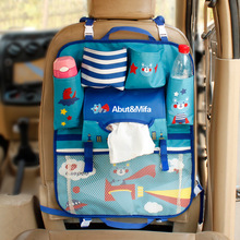 New Cartoon Car Seat Back Storage Bag Organizer For Kid Auto Folding Storage Box Food Phone Holder Multi-function Car Interior
