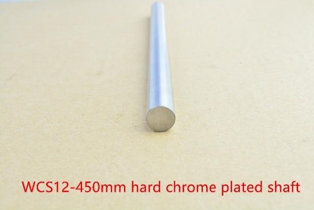 3D printer rod shaft 12mm linear shaft L 450mm chrome plated linear guide rail round rod shaft for cnc robot 1pcs