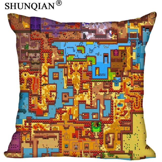 The Legend Of Zelda Map Pillowcase Square Zippered Home Decorative Enchanting Zippered Decorative Pillow Covers