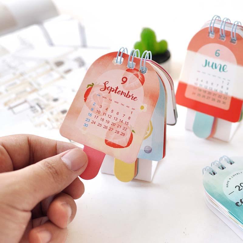 Office & School Supplies 1 Pcs Nette Kawaii Kalender 2018 Cartoon Popsicle Kalender Mini Stil Diy Desktop Papier Kalender Papier Geschenk Büro Schreibwaren Um Der Bequemlichkeit Des Volkes Zu Entsprechen Kalender, Planer Und Karten
