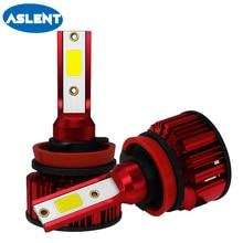 ASLENT 2PCS mini Auto Bulbs LED H7 H4 H11 H8 H9 9005 HB3 9006 HB4 Lamp Car Headlights Fog Lights 80W 16000LM 6000K 12V 24V