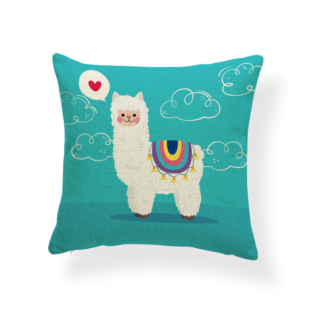 Colorful Alpaca Pillowcase