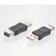 1 × の firewire IEEE 1394 6 ピン USB 2.0 オスアダプタコンバータ 新新