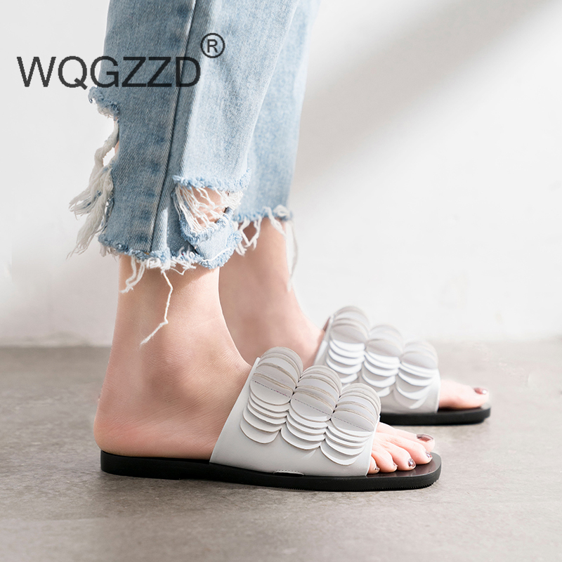 Luxury brand flat shoes women s slippers fashion design new summer flip flops women s shoes