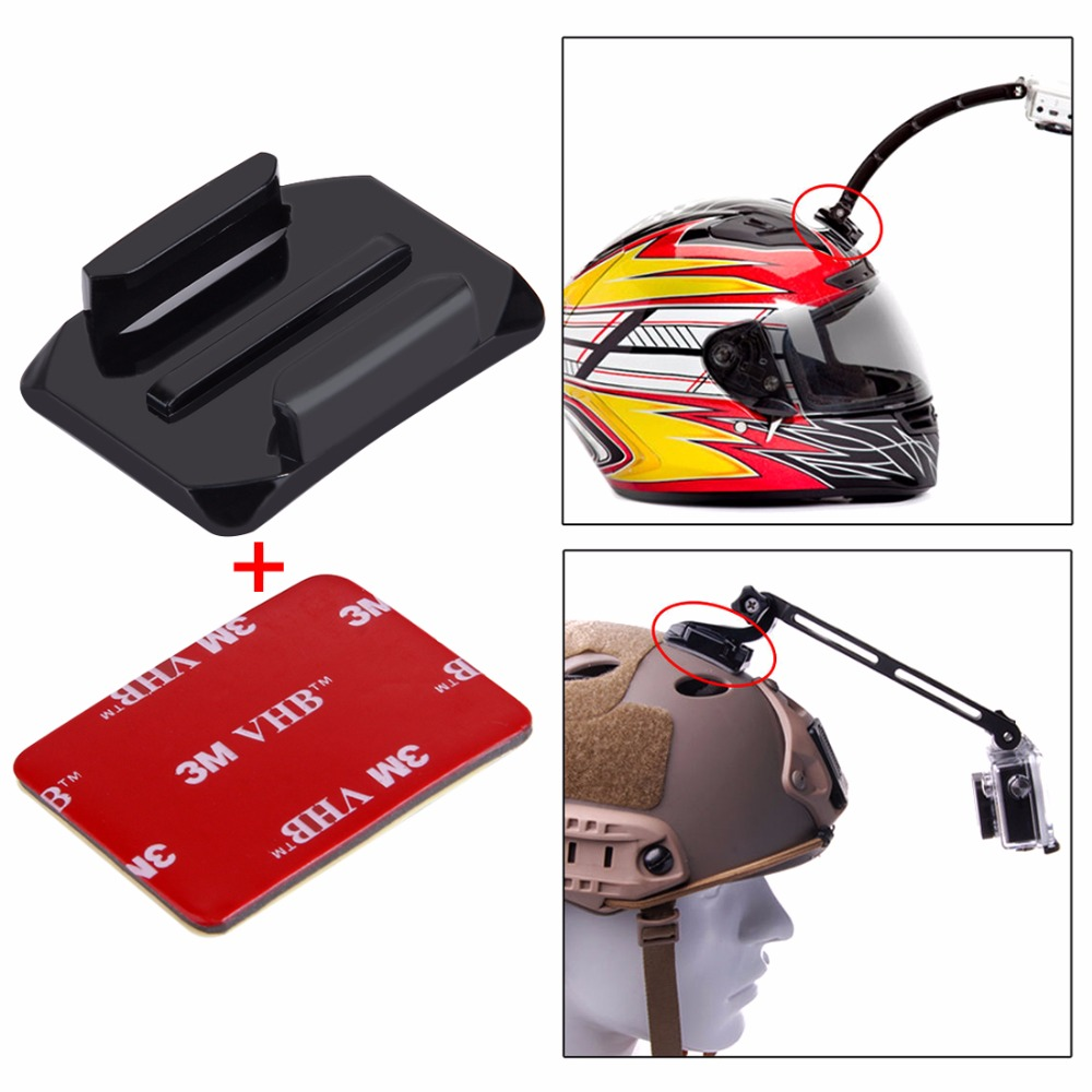 For Go Pro Accessories 2 Curved Surface Mounts + 2 Adhesive Mount Stickers for GoPro HERO5 HERO4 Session HERO 5 4 3+ SJ4000