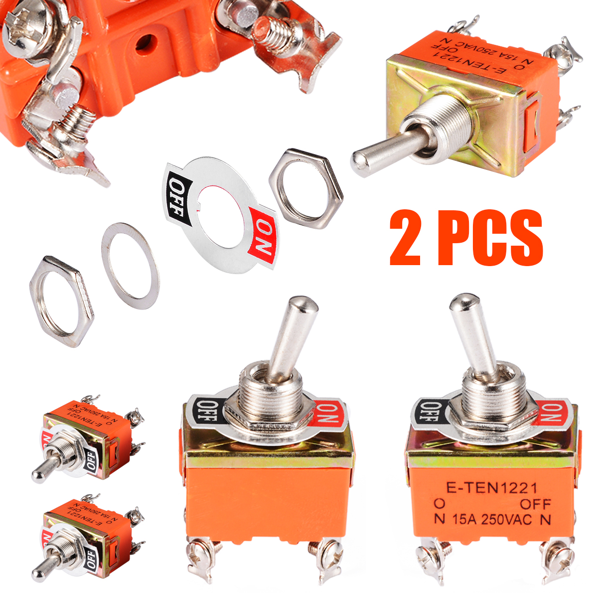 Switches Lights & Lighting Professional Sale Stainless Steel Waterproof Toggle Swith 12v Heavy Duty Toggle Flick Switch On Off On Car Metal Spdt Spst P0.05 15a 250v Terminal Reasonable Price