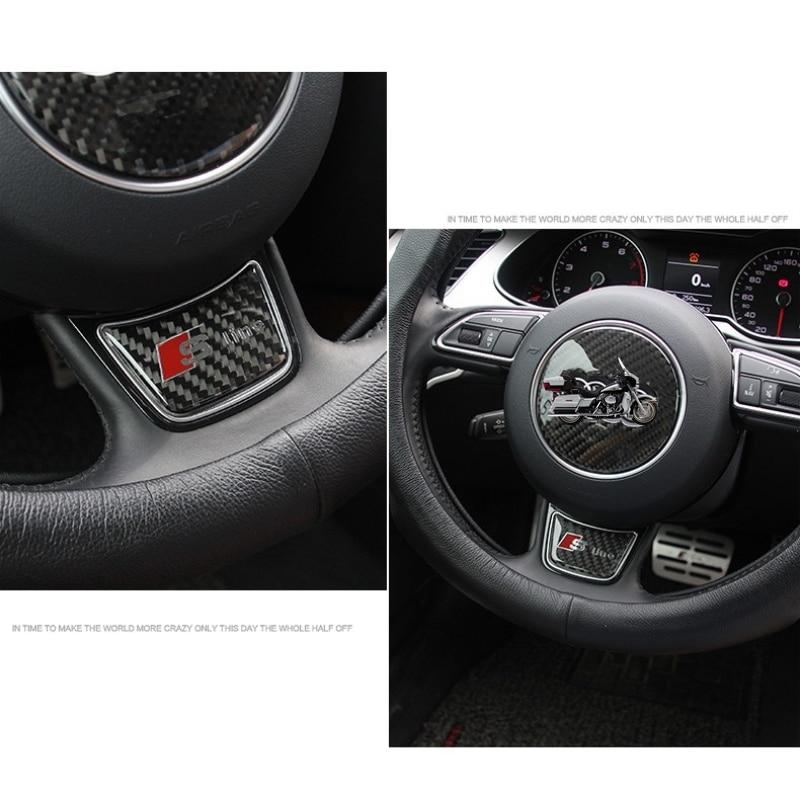 Adesivo per Auto Q5 Q3 A3 Q7 A6L Adesivo per Volante in Fibra di Carbonio Tinta Unita Compatibile con Audi A4L