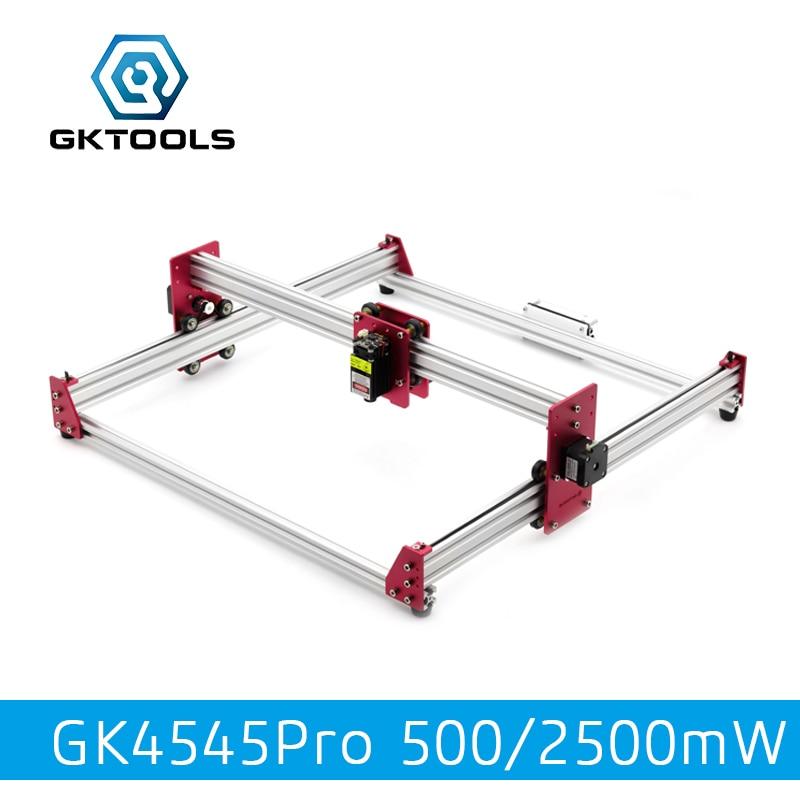 все цены на GKTOOLS All Metal 45*45cm 500mW,2500mW Wood Mini CNC Laser Engraver Cutter Engraving DIY Machine PWM,Benbox GRBL EleksMaker