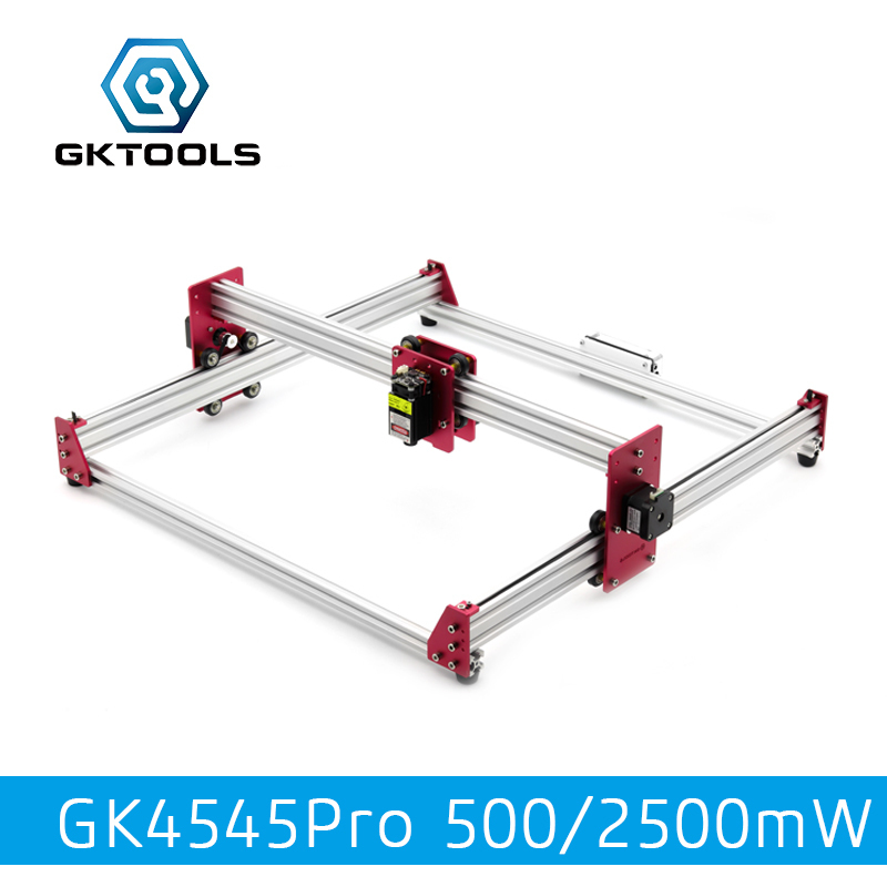 GKTOOLS All Metal 45*45cm 500mW,2500mW Wood Mini CNC Laser Engraver Cutter Engraving DIY Machine PWM,Benbox GRBL EleksMaker цена