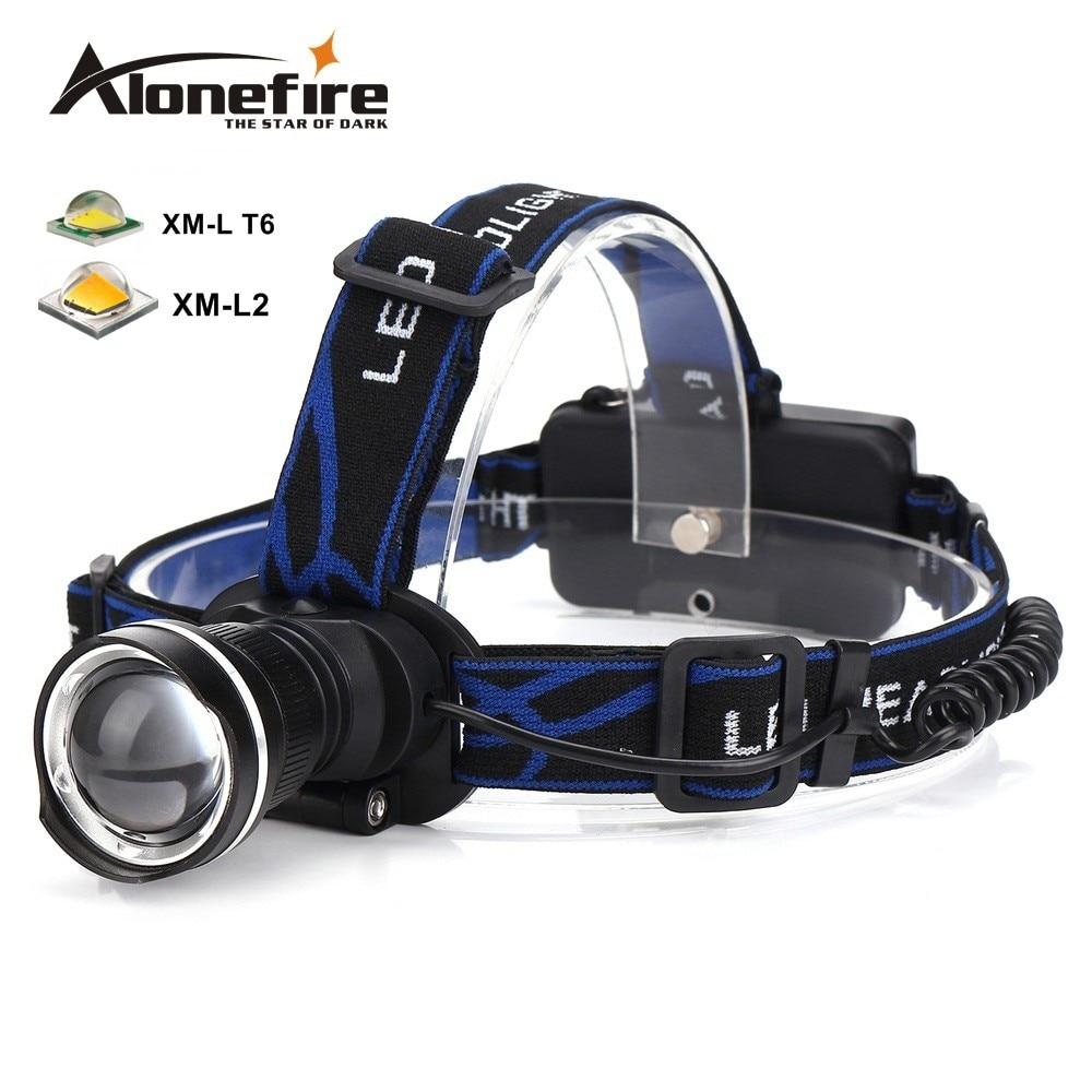 AloneFire HP87 Kopf licht Cree XM-L T6 L2 LED Zoom Scheinwerfer wanderung Scheinwerfer Outdoor laterne Kopf lampe 18650 akku