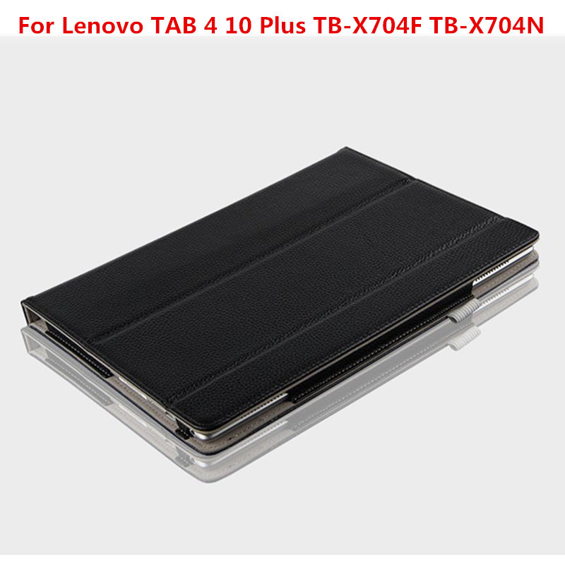 TAB4 10 Plus Genuine leather Flip Stand Cover Case for For Lenovo Tab 4 10 Plus TB-X704F TB-X704N 10.1 inch Tablet Funda Case pu leather cover stand case for lenovo tab 4 10 plus tb x704f tb x704n 10 1 tablet protective tab4 10 plus transformers cover
