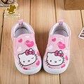 Niños de dibujos animados hello kitty shoes 2016 cabritos de las muchachas lindas sport shoes plantilla 12.8-16.2 cm princesa niño de la manera de las zapatillas de deporte femenino