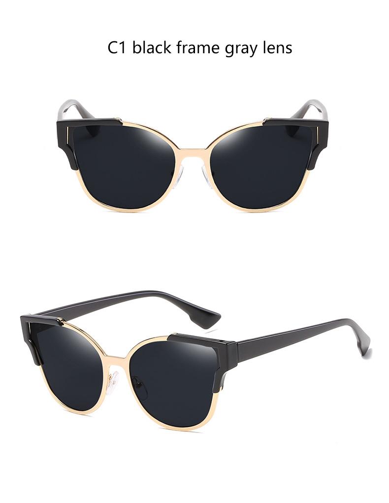 HTB1LVDfQVXXXXc7XpXXq6xXFXXXQ - Women Cat Eye Luxury Fashion Designer Mirror Sunglasses