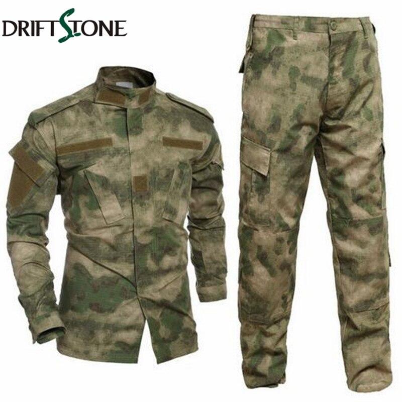 Armée militaire tactique cargo pantalon uniforme camouflage tactique militaire bdu combat uniforme us armée hommes vêtements ensemble