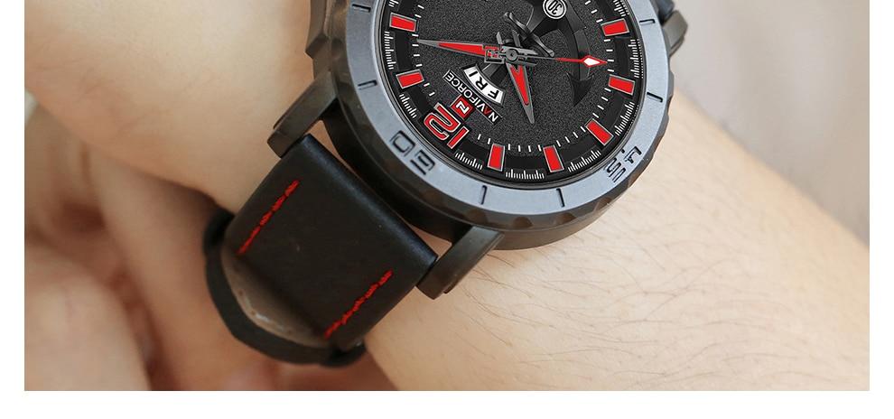 HTB1LVDptVGWBuNjy0Fbq6z4sXXaC NAVIFORCE Men's Fashion Business Quartz Wristwatches Creative Sports Watches Men Luxury Brand Watch Clock Male Relogio Masculino