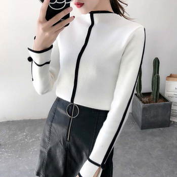 Fannic  Sweater Female Soft Korean Style Skinny Winter Turtleneck Women Bodycon Pullovers Long Sleeve Pull Femme Coat Fem платье vis a vis размер xxl turquoise