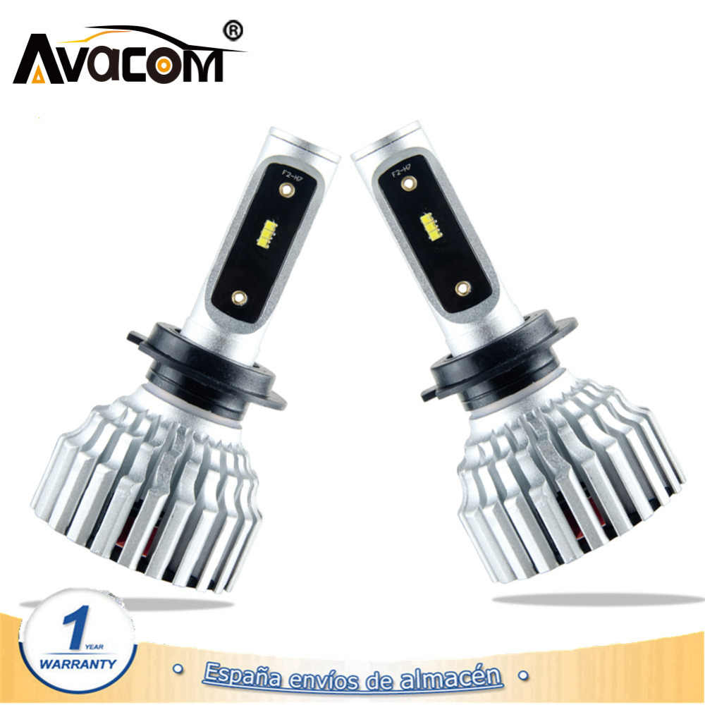 2 Pcs LED Car Headlamp 12V H7 H11/H8/H9 ZES Chip 16000Lm 6500K Super Turbo 60W 24V LED H4 9005/HB3 9006/HB4 Bombillas LED Coche