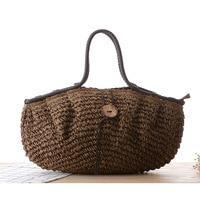 Fashion Vintage Women Handbag Large Capacity Shoulder Bag High Quality Straw Weave Bag Factory Outlet Dropshipping