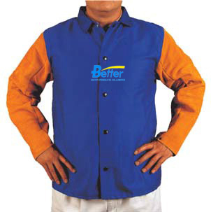 Split Cow Leather Welding Clothing Leather Welding Aprons Flame Retardant Cotton Leather Welding Jackets split