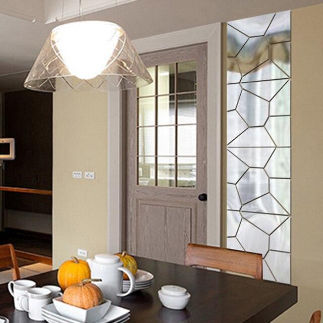 Adesivi murali specchio specchio astratto motivi geometrici grafica ...