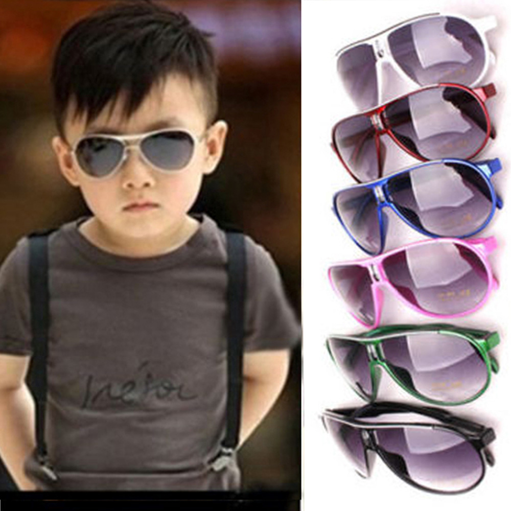 Sunglasses Girls Baby Boys Anti-UV Goggles Kids Protection Soprt Dark Glasses