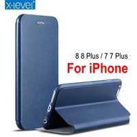Luxury X Level High Quality Classic Flip Leather Case For IPhone 7 7 Plus 6s 6s