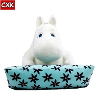 48cm Moomin Yamei Computer Cushion pillow Hippo family genuine Moomin doll family Children plush doll birthday gifts