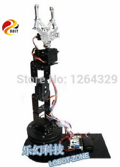 ФОТО Official DOIT The Latest Version 6dof Robot Arm Intelligent 3D Rotation Manipulator +Mechanical Claw + Large Metal Base+Thicker