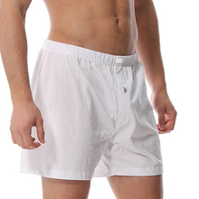 KVF 100% Cotton Mens Underwear Homem Boxers Shorts Male High