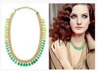 Min. order USD15 (mix zamówienie) Moda Big Marka Choker Naszyjnik Dla Kobiet Biżuteria z Kamienia Naturalnego Darmowa Wysyłka