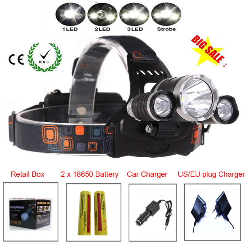 Налобные фонарики из Китая