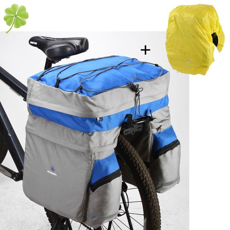 2016 ROSWHEEL Waterproof Bicycle Bag Panniers Double Side Rear Rack Tail Seat Trunk Bag Pannier with Rain Cover Bike Bags 60L диск отрезной для ручных циркулярных пил bosch optiline wood 2608640623