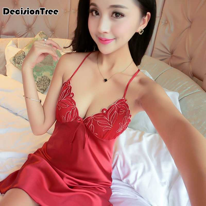 d42831f13c Detail Feedback Questions about 2019 new women s sexy bride lingerie lace  side babydoll white negligee pyjamas vintage nightgown silk nightdress on  ...