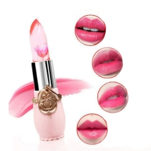 New Lipstick Jelly Fruit Lip Balm Beauty Waterproof Flower Stick Temperature Change Moisturizer Lips