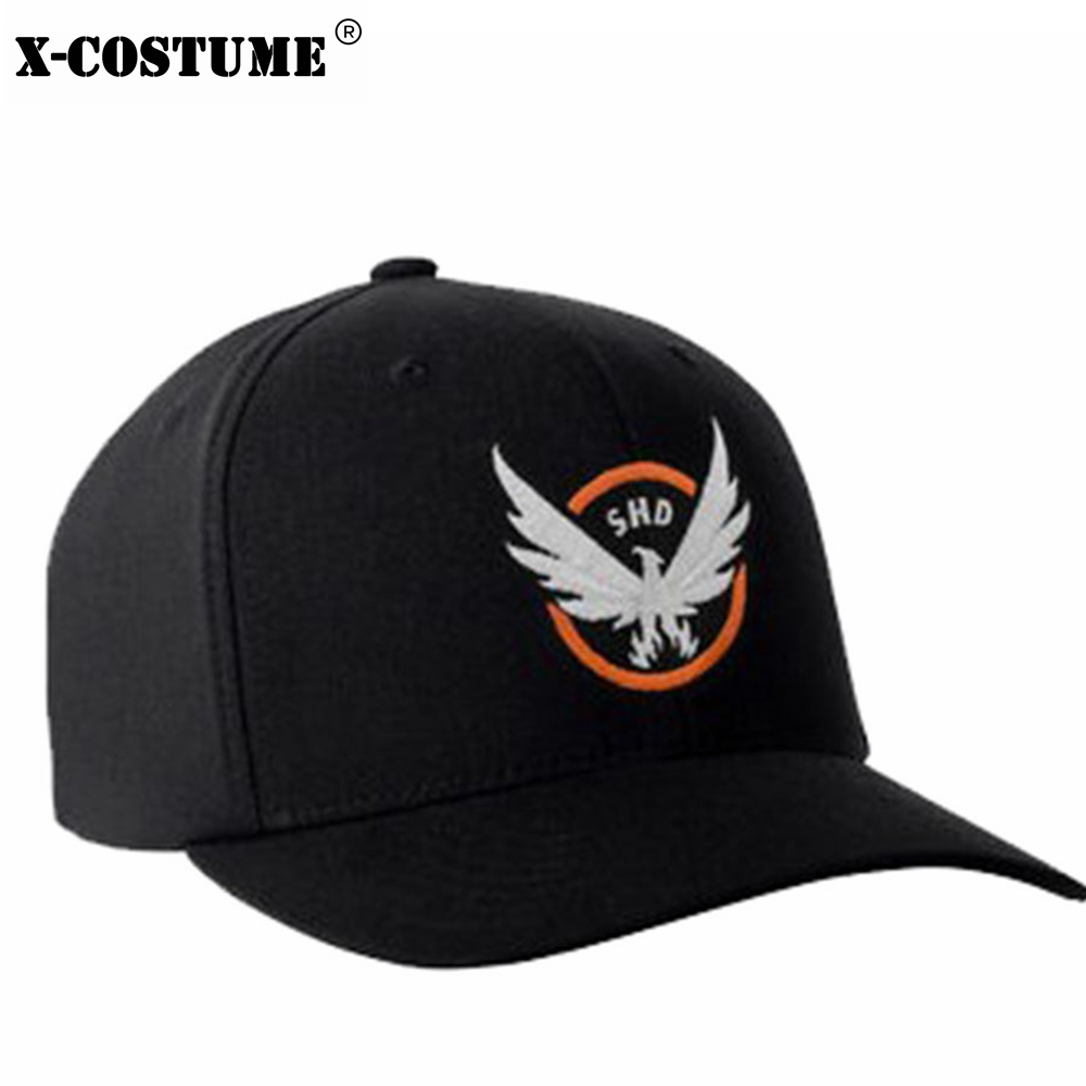 The Division Tom Clancy's Baseball Cap Snapback Hat Cosplay Costume Accessories Black Cotton Hats 2018 Halloween Christmas Gift