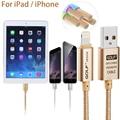 Для Молнии Для iPad Air2 Воздуха ipad 2/3/4 ipad mini Быстрая Зарядка зарядное устройство USB Металлического Кабеля Синхронизации Данных для iPhone 7 6 6 s Плюс 5S 5