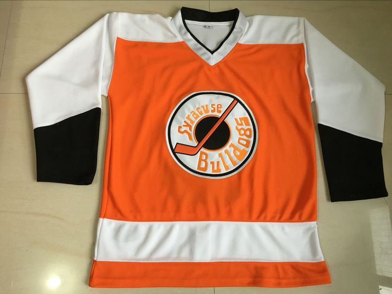 Ogie ogilthorpe Jersey #2 Syracuse Bulldogs Slap Shot Move Jerseys All Stitched Orange Ice Hockey Jersey S-3XL Free Shipping