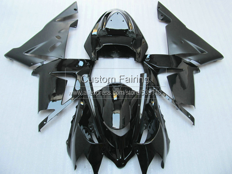 Pop Custom Fairings for Kawasaki ZX10R zx 10r Ninja 2005 2004 / 05 04 matte & glossy Black fairing kit xl34 04 mod pop