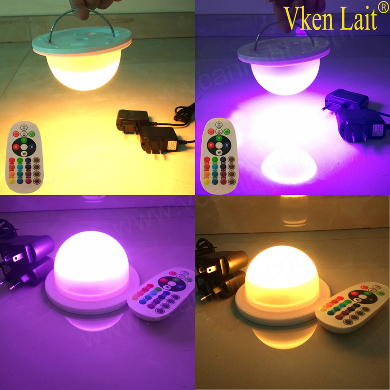Best Quality RGB Remote Control Rechargeable Led Light Base For Table  VC-NL120